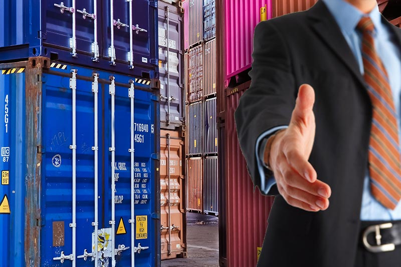 Purchase and sale of both used and new cargo shipping containers